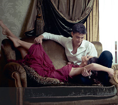 Максим МАТВЕЕВ и Лиза БОЯРСКАЯ. Фото Hello