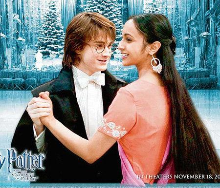 В «Гарри Поттере...» Афшан АЗАД сыграла свою звёздную роль (на снимке вместе с Дэниелом РЭДКЛИФФОМ)