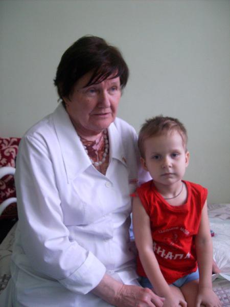 Данил с лечащим врачом Татьяной ЖИТНЯК