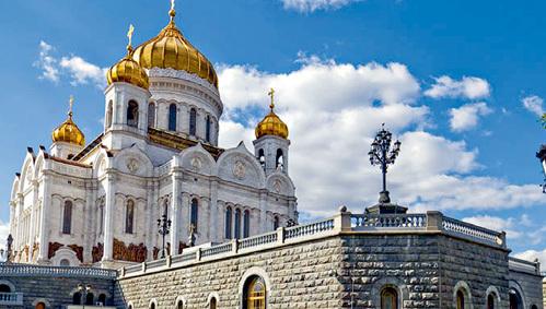 Главный храм православных России - Кафедральный соборный храм Христа Спасителя в Москве