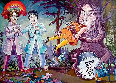 В фильме «Через Вселенную» ВУД спела несколько хитов «The Beatles» о превратностях любви