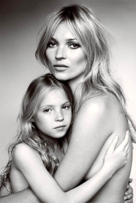 Кейт МОСС с дочкой