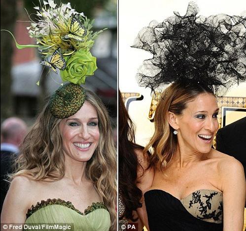 Шляпы от ТРЕЙСИ Сара дважды надевала на премьеру