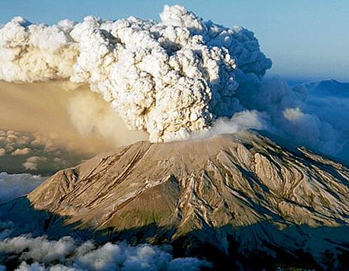 Извержение вулкана Утурунку в Южной Америке