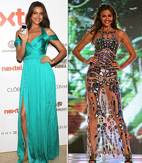 Ирина продемонстрировала модный изумрудный наряд, затем - прозрачное платье...