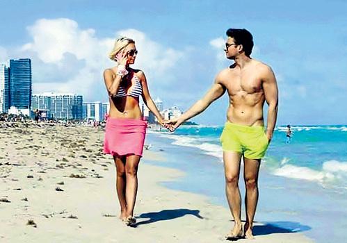 В январе этого года Серёжа ЛАЗАРЕВ показал своей подруге Лере КУДРЯВЦЕВОЙ красоты Майами и присмотрел там небольшой особнячок за $1 200 000. Фото из Твиттера Леры КУДРЯВЦЕВОЙ