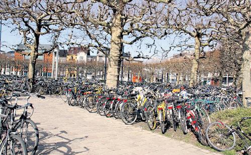 Велосипед - основное средство передвижения в Бельгии. Даже в объявлениях о продаже или аренде квартир будет указано, есть ли у дома стоянка для них