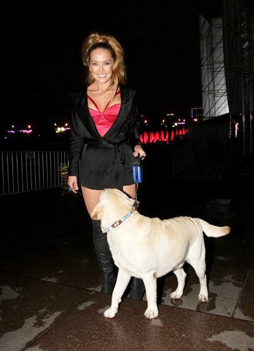 Жанна и ее пёс Улиус.