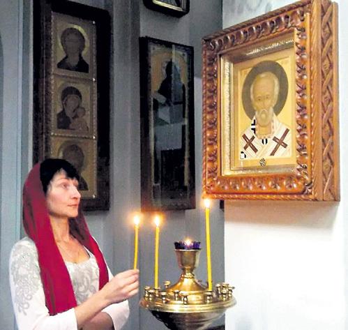 Татьяна ПЕТРЕНКО опознала своего спасителя, увидев в храме икону Николая Чудотворца