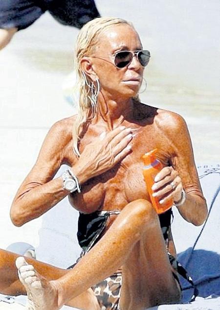 56-летняя Донателла ВЕРСАЧЕ знает, как сохранить красоту тела