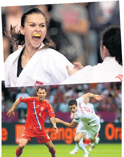 В поединках Анна забывает о женственности и побеждает соперниц одну за другой (фото сверху). А вот Роберт что-либо противопоставить на чемпионате Европы-2012 нашему ИГНАШЕВИЧУ (слева) не сумел