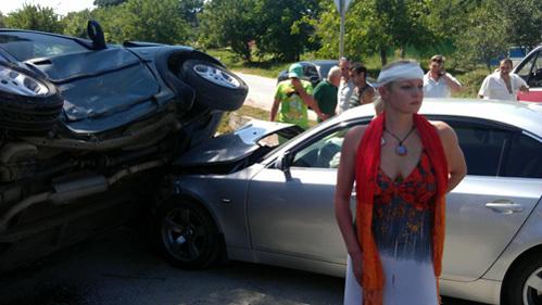 В прошлом году Анастасия ВОЛОЧКОВА так же попала в аварию и получила серьёзную травму