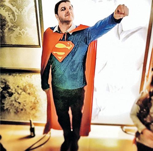 В новом фильме Максим ВИТОРГАН появится в образе супермена. Фото из Instagram