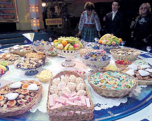 Все лакомства куплены или приготовлены в «Останкино»