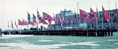 Накануне подписания Мюнхенского договора. Рядом со свастикой реют стяги Франции и Великобритании. СССР подпишет пакт о ненападении с Германией лишь через год после этого европейского позора
