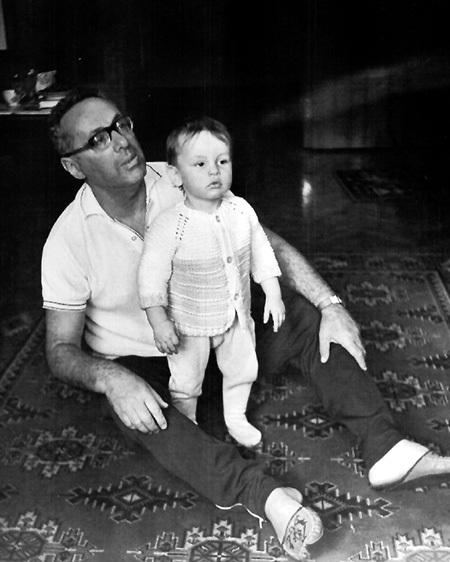 С любимым внуком Борисом