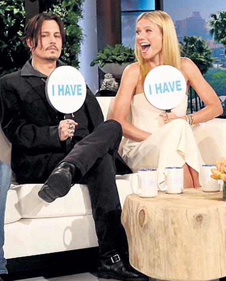 Во время телешоу ДЕПП и ПЭЛТРОУ признались, что видели друг друга голыми