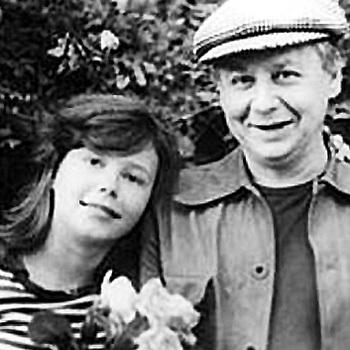 ТАБАКОВ с дочкой Александрой от первого брака с Людмилой КРЫЛОВОЙ