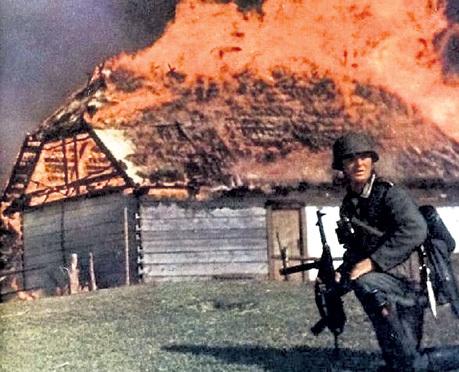 Июнь, 1941 год. Фашисты «защищались», уничтожая русские города и деревни