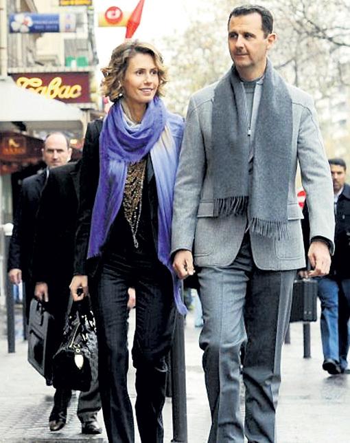 Башар женой Асмой без охраны гулял по довоенному Дамаску