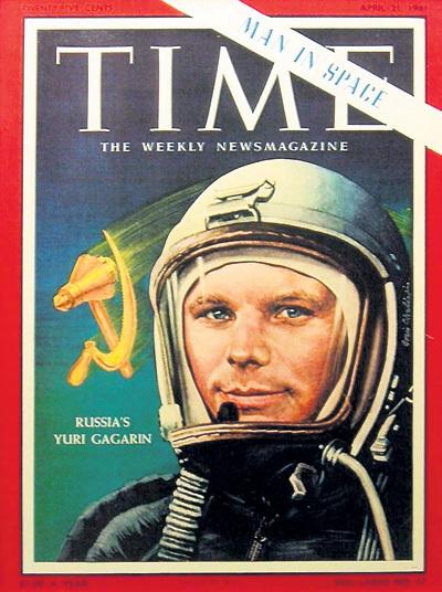 Самый популярный в США журнал убрал надпись «СССР» со шлема Юрия ГАГАРИНА