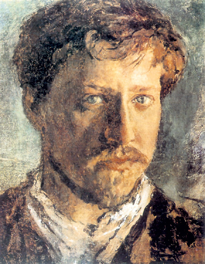«Автопортрет» В. А. СЕРОВА (1880)