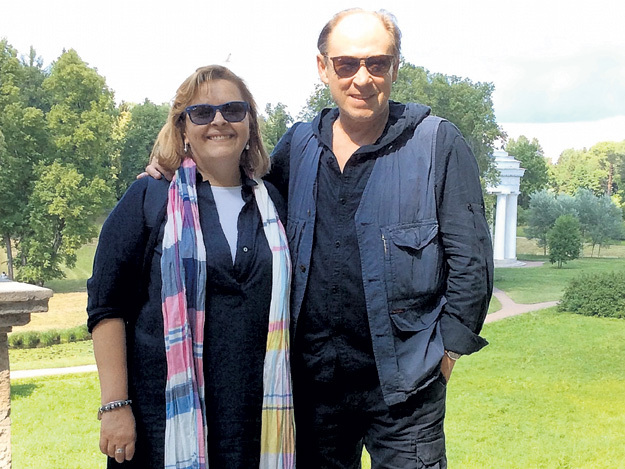 С супругой Надеждой