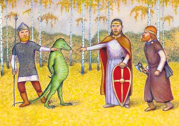 Русские витязи частенько ловили представителей мировой закулисы, о чем былины говорят как о борьбе с заморскими чудищами