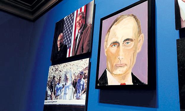Экс-президент США рисует не очень похоже, но зато с любовью. Владимир ПУТИН...