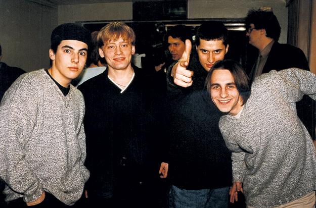 Группа «Тет-А-Тет»: ГРАЧЁВ, ТКАЧЕНКО, ПИРЦХАЛАВА, ЧИСТЯКОВ (конец 90-х гг.)