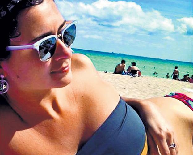 Настя ЧУРКИНА на пляже в Майами. Фото: Instagram.com