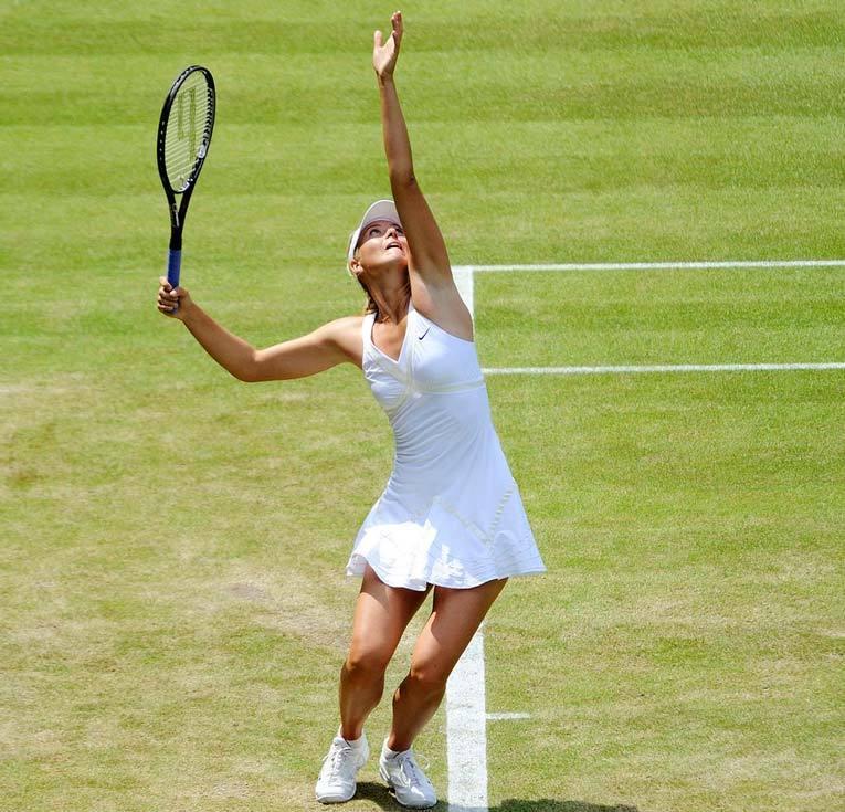 Мария на Уимблдонском турнире 2009 года. Фото: Википедия
