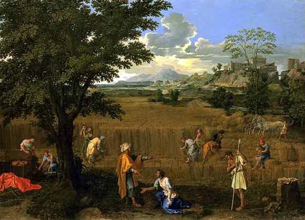 Пуссен. «Руфь и Вооз». 1660—1664 гг. Источник: ru.wikipedia.org