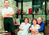 СЕМЕЙНЫЙ ПОРТРЕТ В ИНТЕРЬЕРЕ: Баринов с женой и детьми