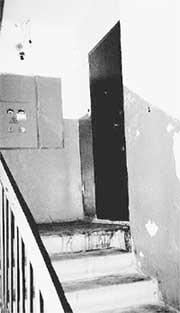 МЕСТО ТРАГЕДИИ: на лестнице у квартиры гея до сих пор видны кровоподтеки