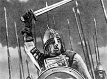 СВЯТОЙ АЛЕКСАНДР НЕВСКИЙ: замочил крестоносцев на Чудском озере