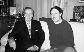 С ВЕЛИКИМ КНЯЗЕМ ВЛАДИМИРОМ КИРИЛЛОВИЧЕМ: во время его первого визита в Россию в 90-м году