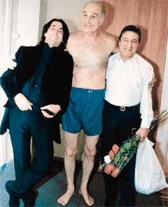 СРЕДИ ДРУЗЕЙ: Кавсадзе с Юрием Башметом и Геннадием Хазановым