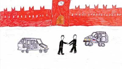 ОЛЕГ ЧИСТОВ (11 лет): Владимир Владимирович встречается в Кремле с президентом другой страны