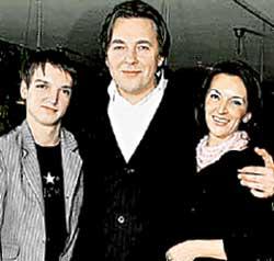 ЭРНСТ: с пасынком Игорем и женой Ларисой