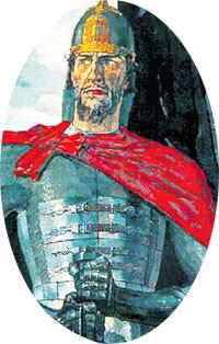 ...а Александр НЕВСКИЙ мечом сражались за великую Россию