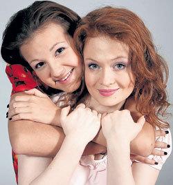 Ира и Катя за время съёмок стали настоящими подружками