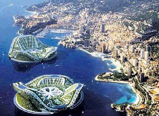 Проект плавающих городов-островов под Сочи
