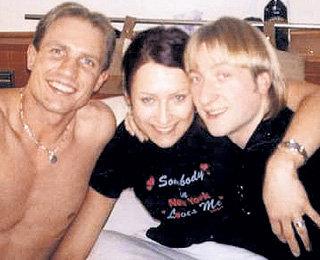 С бывшей женой Юлией и Евгением ПЛЮЩЕНКО