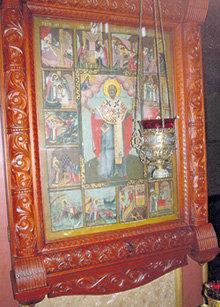 Икона Николая Чудотворца, подаренная храму СМОКТУНОВСКИМ