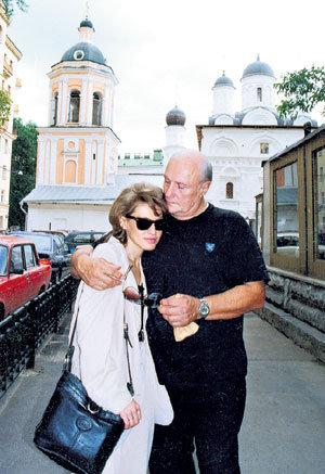 С любимой женой Ириной в Рязани во время путешествия по Золотому кольцу