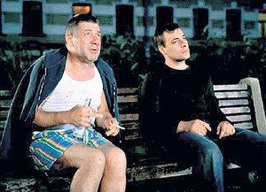 В фильме «Питер FM» Андрей (слева) сыграл лишь в эпизоде