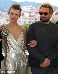 Милла ЙОВОВИЧ со вторым мужем Люком БЕССОНОМ в 1997 году