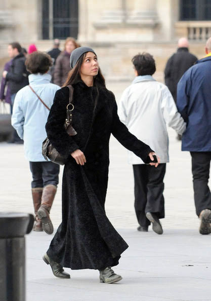 Оксана Григорьева в Лувре