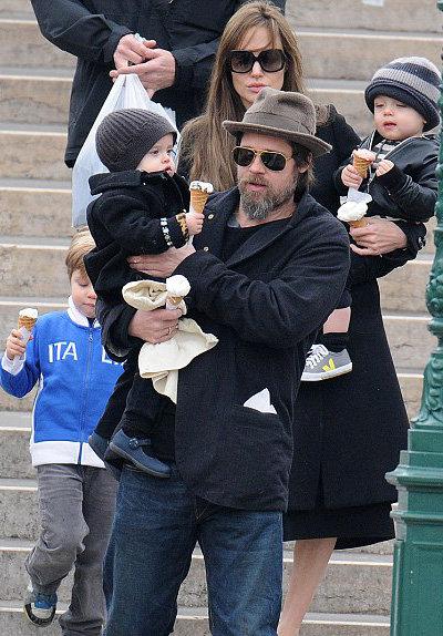 Брэд Питт и Анджелина Джоли в Венеции - фото The Daily Mail